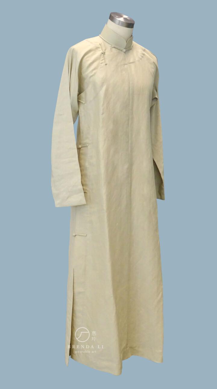 杭州絲質男裝單長衫