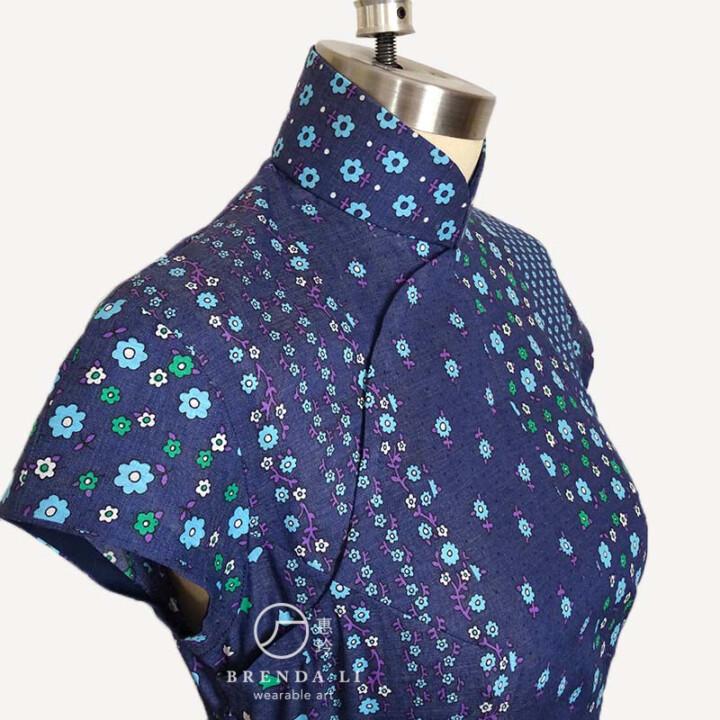 棉質印花無袖單長衫