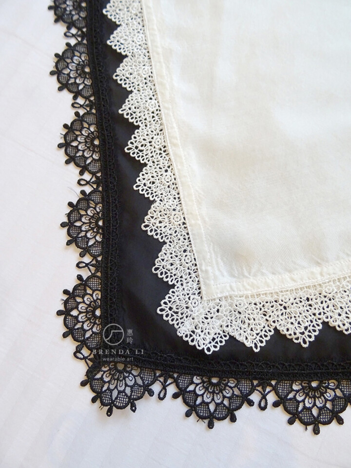 黑色真絲「電力紡」長襯裙
